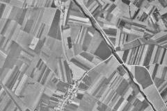 obrázek 1 Letecká mapa z roku 1938. Zdroj: Letecký měřický snímek 1938 - VGHMÚř Dobruška © MO ČR