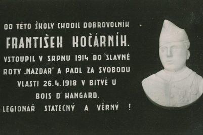 Obnovení pamětní desky legionáře Fr. Kočárníka
