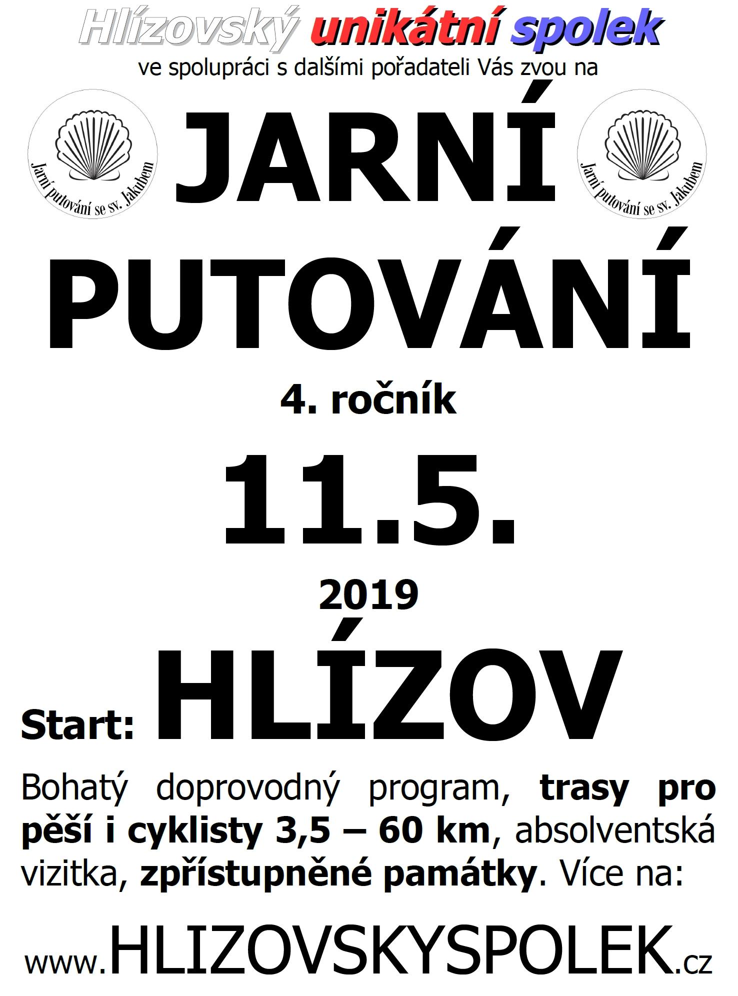 Pozvánka 4. ročník Jarního putování 2019