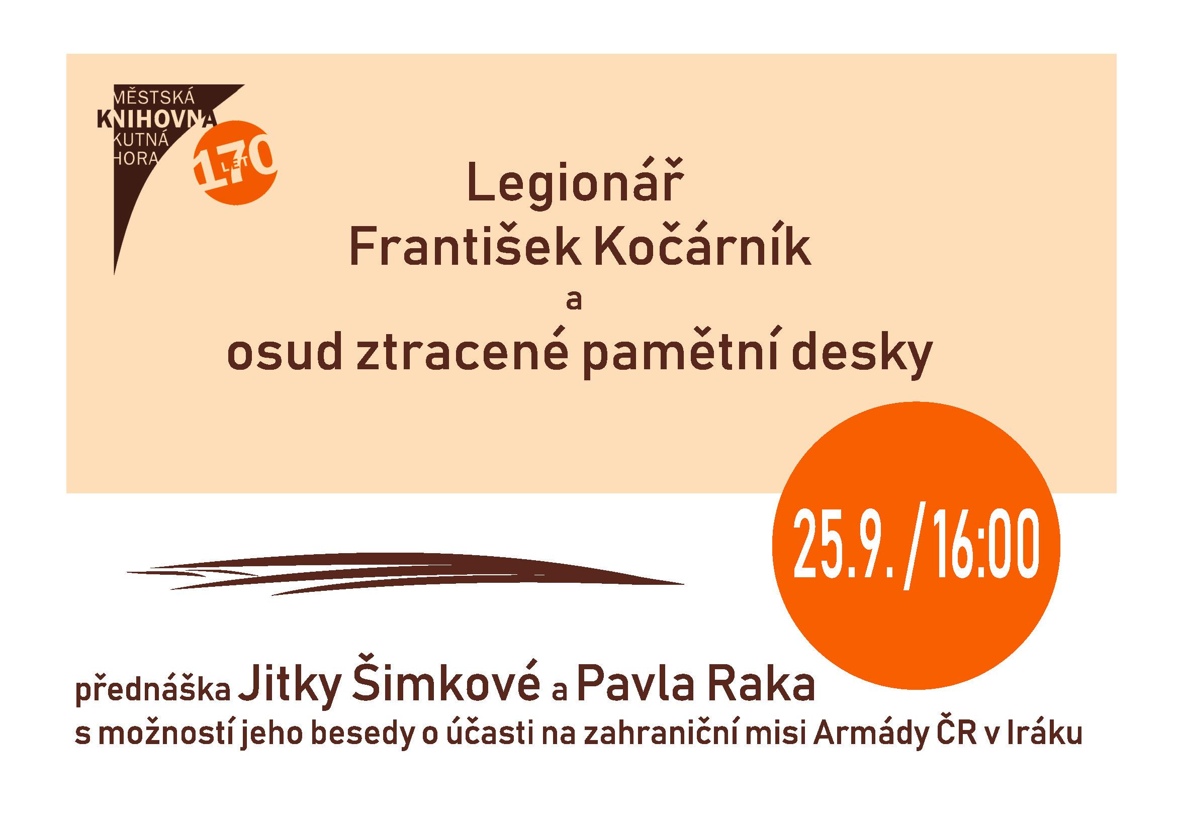 25. září Vás zveme do Městské knihovny Kutná Hora