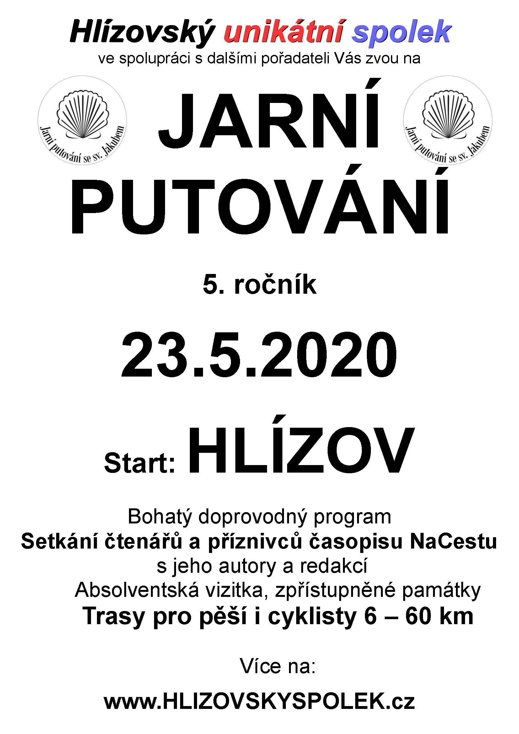 Pozvánka 5. ročník Jarního putování 2020