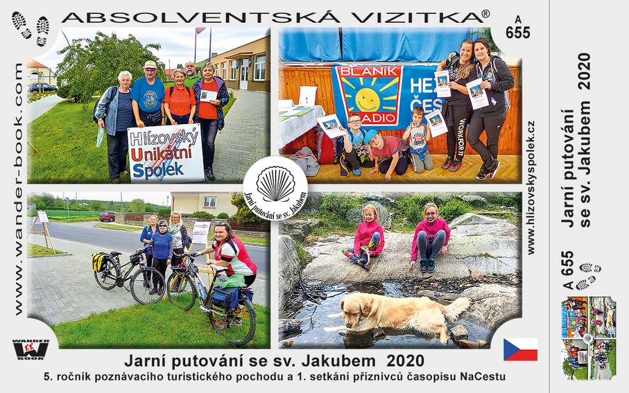 Nové turistické vizitky pro účastníky 5. ročníku Jarního putování se sv. Jakubem